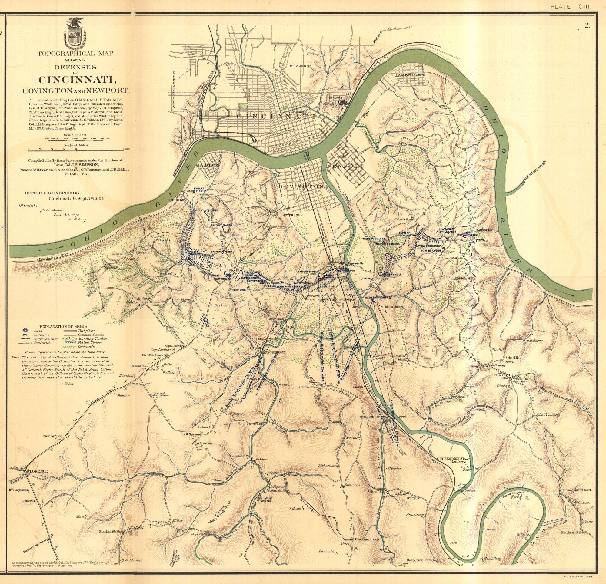 Civil War Map on