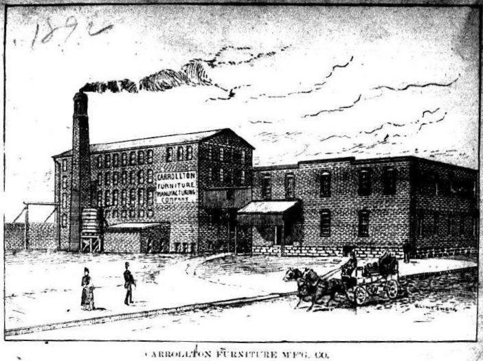 Attirant Carrollton Furniture Manufacturing Company, Carrollton, Kentucky.